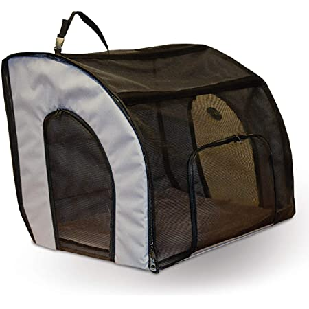 24/″x24/″x42/″ Red One for Pets Double Cat Show House//Portable Dog Kennel//Shelter Seat-Belt Fixture Included