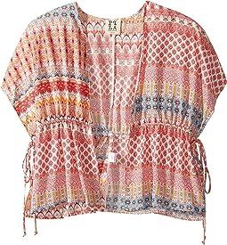 Zilla Kimono Printed Woven Cardigan (Big Kids)