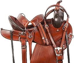 AceRugs Western Pleasure Trail Horse Leather Saddle TACK Set Endurance Headstall REINS Breast Collar Sale