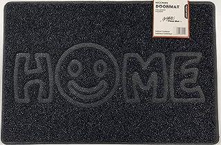 Nicoman Felpudo con diseño de Espagueti en Relieve, Lavable a máquina para Exteriores, Negro, Home-(70x43cm)