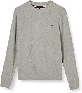 Tommy Hilfiger Men's Structured Cotton Crew Neck Sweatshirt
