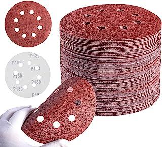 MIDO Professional Abrasive Sanding Disc 72 PCS 5 Inch Orbital Sanding Discs Hook and Loop Sandpaper for Random Orbital San...