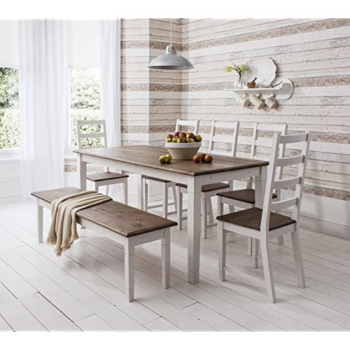 White Dining Table Bench