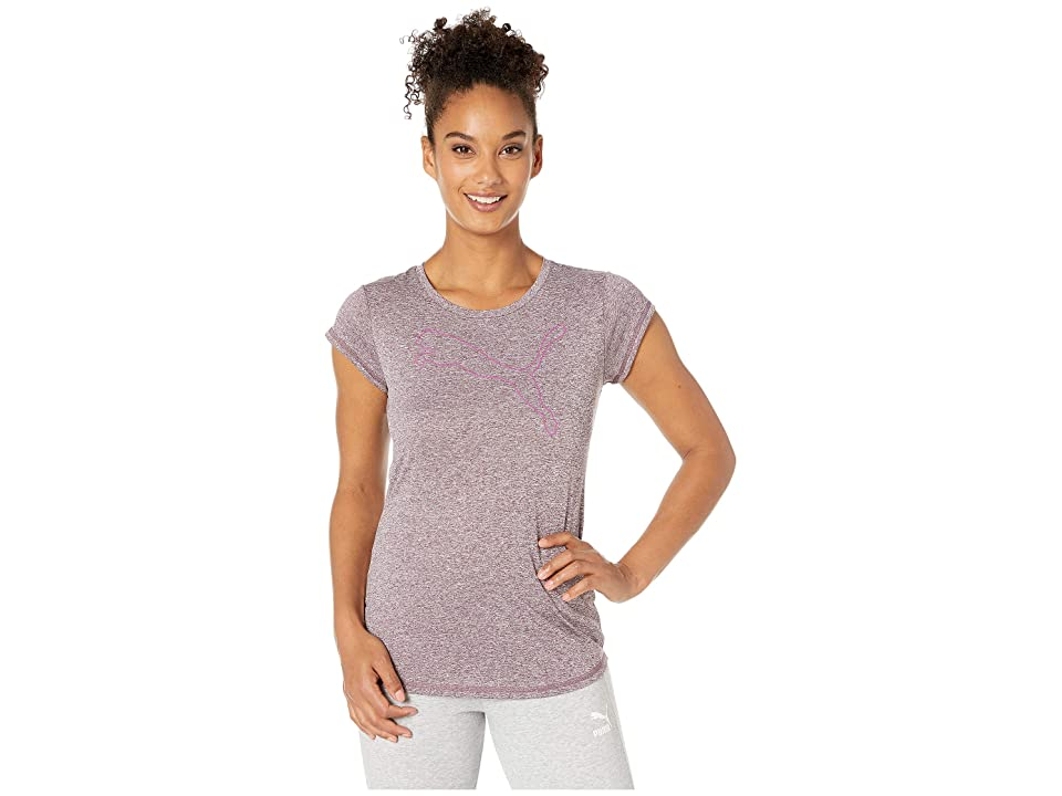 PUMA Active Logo Heather Tee (Fig Heather) Women