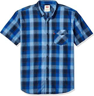 Levi's Men's Vernon Short Sleeve Plaid Woven Shirt Button