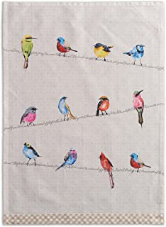Maison d' Hermine Birdies On Wire 100% Cotton Set of 2 Multi-Purpose Kitchen Towel Soft Absorbent Dish Towels   Tea Towels   Bar Towels (20 Inch by 27.50 Inch)