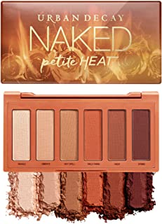 Urban Decay Naked Petite Heat Eyeshadow Palette, 6 Scorched Matte Neutral Shades - Ultra-Blendable, Rich Colors with Velve...