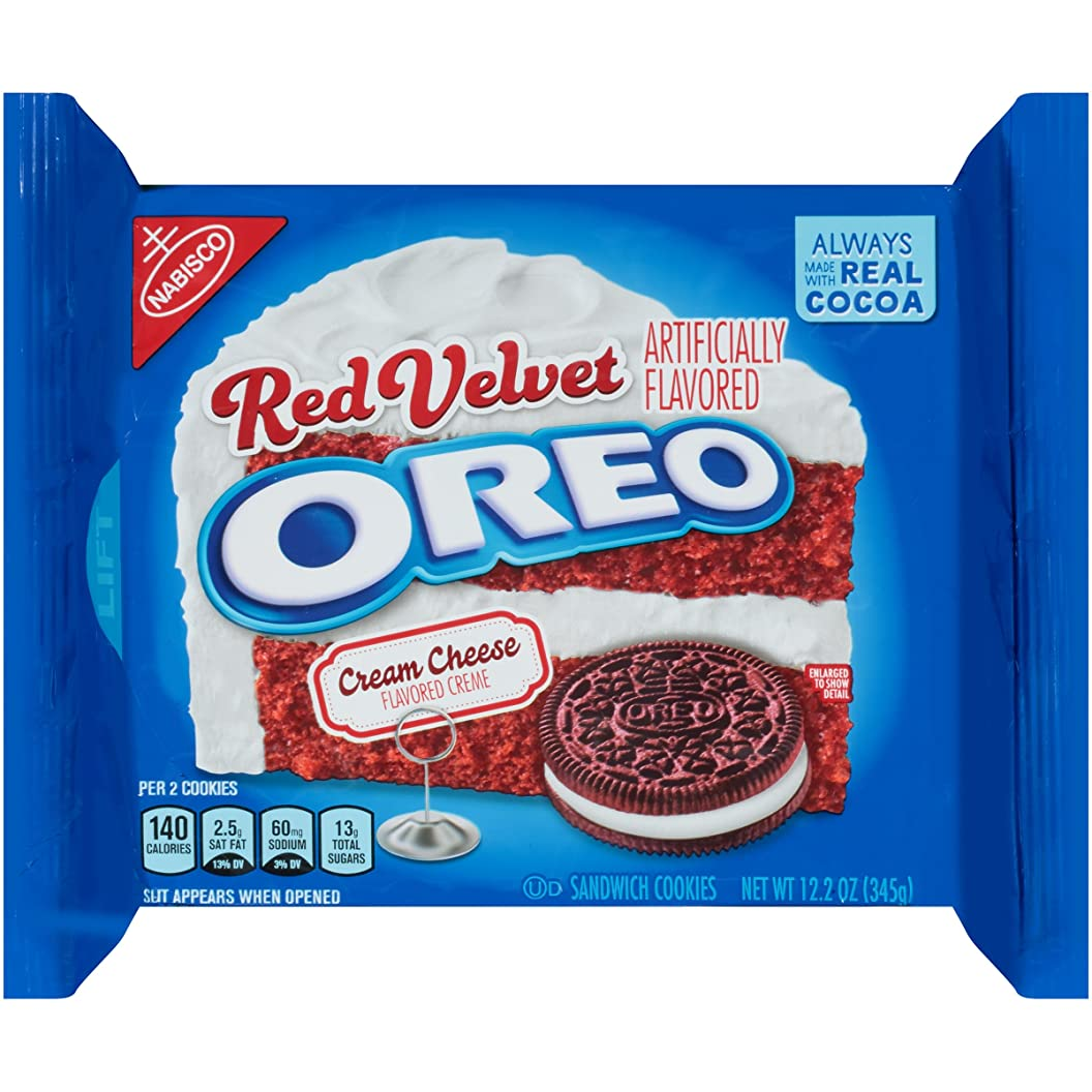 Oreo Red Velvet Sandwich Cookies (12.2-Ounce Package) gjpzqypfume16