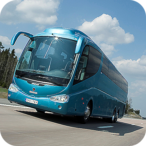 Game: City Bus Parking Simulator - Free Simulation: games driving Buses Rush Truck Crash flying driver hill and highway for kids girls and boys climbing in traffic mini map man 3D