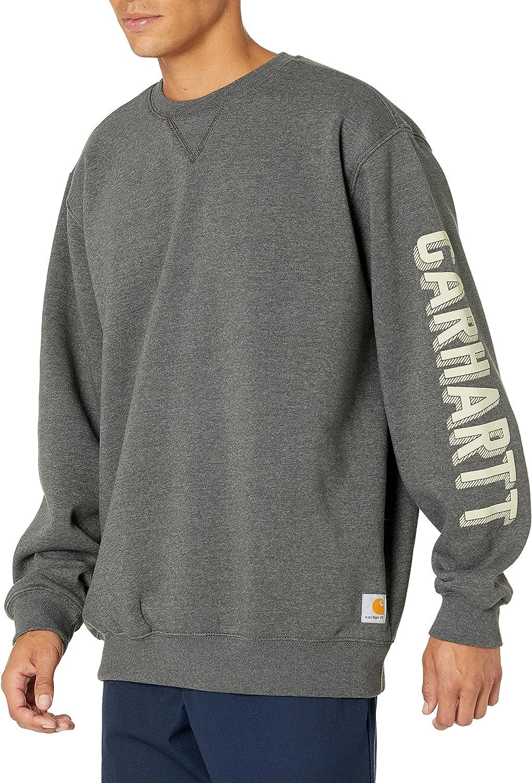 Carhartt Men's Loose Fit Midweight Crewneck Graphic Sweatshirt