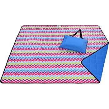 Roebury Beach Blanket Sand Proof & Outdoor Picnic Blanket - Water Resistant, Large Mat for Camping or Travel. Washable, Foldable, Easy Carry Compact Tote Bag