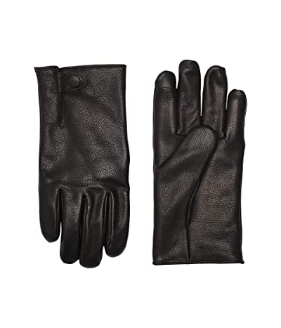 UGG Tabbed Splice Vent Leather Tech Gloves with Sherpa Lining (Black) Extreme Cold Weather Gloves