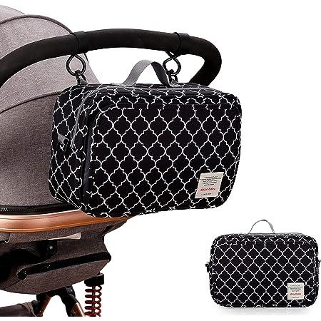 SMOP-スモップ- すっきりまとまるおむつポーチ (モロッカン柄) 取り出しポケット付き おむつポーチ おむつバッグ ベビーカーバッグ 可愛い 赤ちゃん