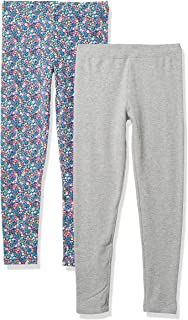 Spotted Zebra Little Girls' 2-Pack Cozy Legging