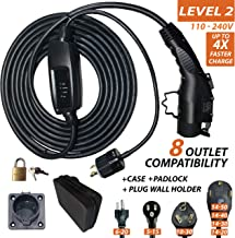 QC Charge - GoCable - Level 2 Electric Vehicle (EV) Charger - 110 volts - 208 volts - 240 volts - with 8 Outlet Compatibility