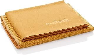 E-Cloth Window Cleaning Pack, Microfiber Glass Scrubbing Cloth & Polishing Cloth (Set of 2), Tangerine