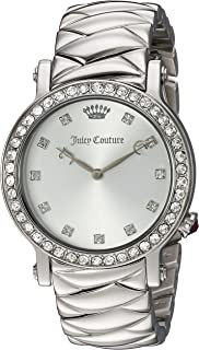 Juicy Couture Women's LA Luxe Quartz Watch with Stainless-Steel Strap, Silver, 18 (Model: 1901487)