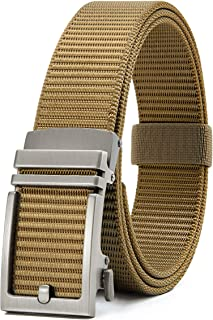Chaoren Nylon Ratchet Belt, Mens Golf Belt Casual, Adjustable Trim to Exact Fit