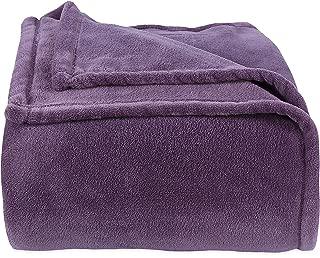 Berkshire Blanket Original Serasoft Bed Plush Blanket, King, Lavendar