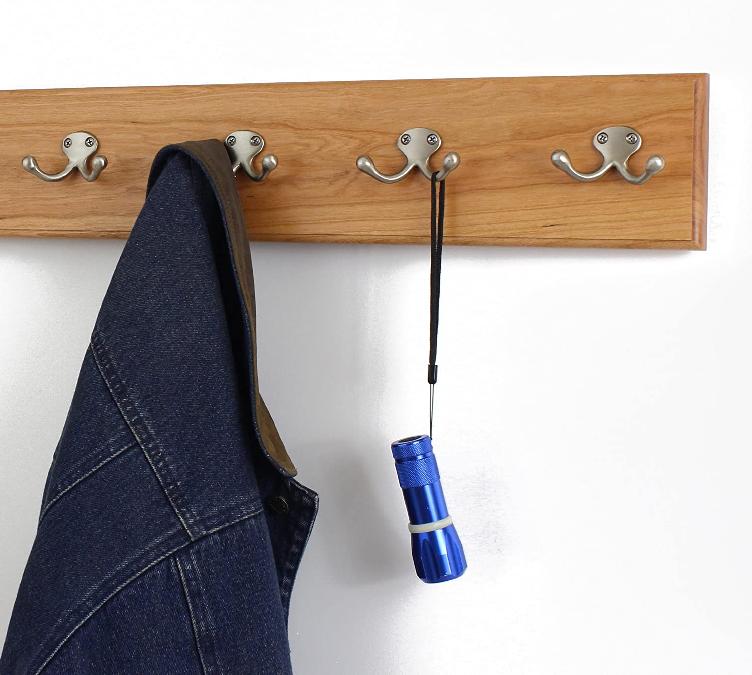 PegandRail Cherry Max 78% OFF Coat Rack with Double Style 2021 autumn and winter new Hooks Nickle Satin