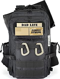 Dad Diaper Bag, Diaper Bag Backpack for Dad, Changing Pad, Stroller Straps, Included Patches, Dad Life Diaper Bag for Dad