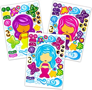 24 Make A Mermaid Stickers - Perfect For Mermaid Party Supplies & Mermaid Party Favors For Kids - Great For Under The Sea Birthday Decorations Or Classroom Activity That Promotes Creativity - Ages 3+