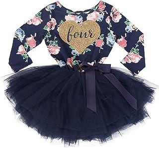 Grace & Lucille 4th Birthday Dress (Long Sleeve)