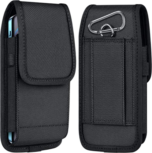 ykooe Cell Phone Pouch Nylon Holster Case with Belt Clip Cover Compatible with iPhone 12/Pro/Mini, 11, Pro, Max, SE2 ...