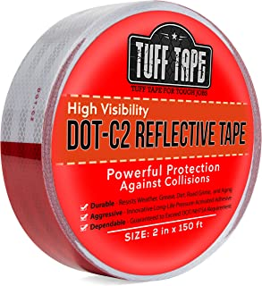DOT Reflective Tape - RED AND WHITE - DOT-C2 Conspiciuity Tape - COMMERCIAL ROLL - 2