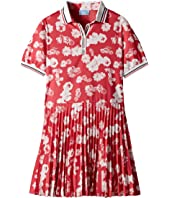 Lanvin Kids - Short Sleeve Floral Print Polo Dress with Pleat Skirt (Big Kids)
