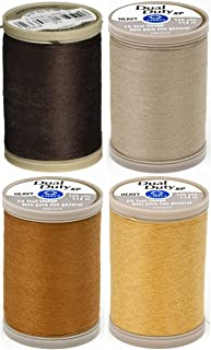 4-PACK - Coats & Clark - Dual Duty XP Heavy Weight Thread - 4 Color Bundle - (Chona Brown + Dogwood + Spice + Temple Gold) 125yds Each