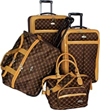 American Flyer Luggage Signature 4 Piece Set, Chocolate Gold