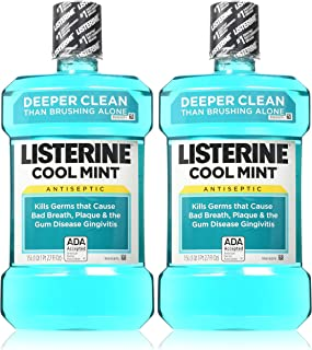 Listerine Antiseptic Cool Mint Mouthwash, 1.5 L, 50.72 oz (Pack of 2)