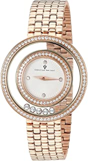 Christian Van Sant Women's Gracieuse Quartz Watch with Stainless-Steel Strap, Rose Gold, 13 (Model: CV4832)