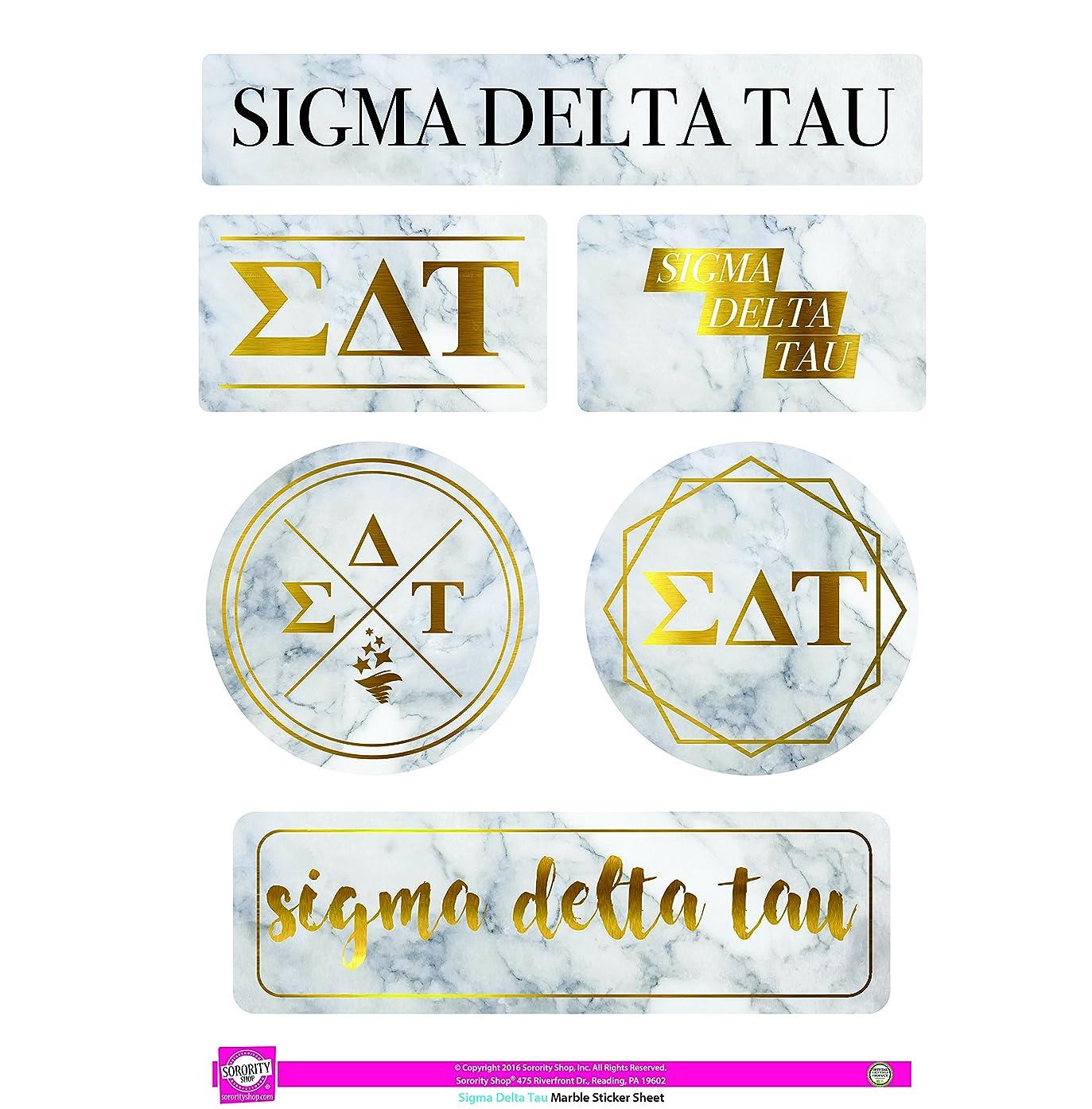 Sigma Delta Tau - Sticker Sheet - Marble Theme