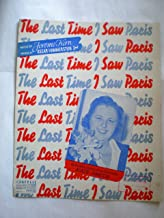 THE LAST TIME I SAW PARIS Music by Jerome Kern Words by Oscar Hammerstein 2nd. Successfully Introduced and Featured by Kat...