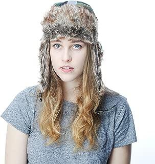 The Hat Depot Faux Fur Safety Reflective Aviator Kids Adult Trapper Hat Snow Ski Trooper Winter Cap