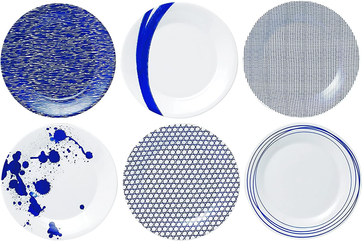 Royal Doulton Pacific Accent Plates 9 Inch Blue Set Of 6