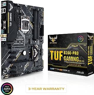 ASUS TUF B360-Pro Gaming (Wi-Fi) LGA1151 (300 Series) DDR4 HDMI VGA M.2 ATX Motherboard with 802.11ac Wi-Fi (TUF B360-PRO Gaming (WI-FI))