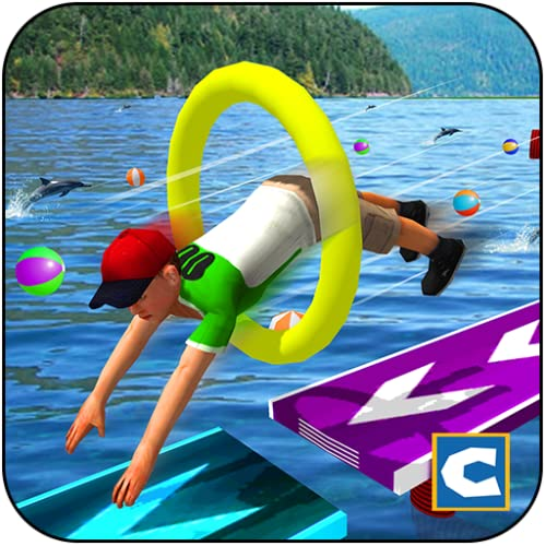 Kids Stunts Water Running Race