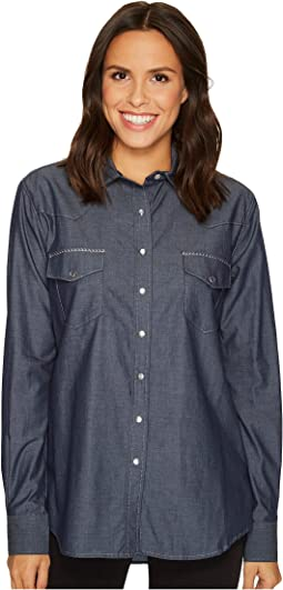 Cruel - Long Sleeve Boyfriend Fit Cotton Chambray