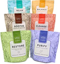 Life Is Calm Epsom Salt Spa 6-Pack | Dissolvable Therapy Formulas for Bath (Restore, Cleanse, Relax, Balance, Purify & Soo...