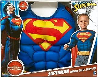 Imagine by Rubie's Child's Superman Fiber-Fill Muscle Chest Shirt Set