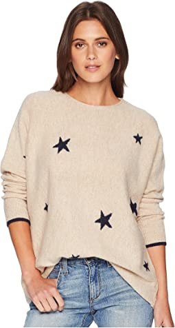 Kellie Drop Shoulder Intarsia Sweater