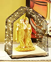 TIED RIBBONS Radha Krishna Idol Statue Figurine Showpiece with Temple and LED Light - Lightning Decor Items for Home
