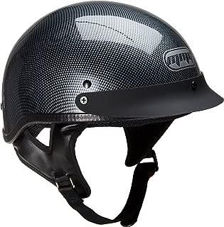 MMG Motorcycle Half Helmet Cruiser DOT Street Legal, Carbon Fiber, Large
