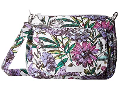 Vera Bradley Carson Mini Shoulder Bag (Lavender Meadow) Cross Body Handbags