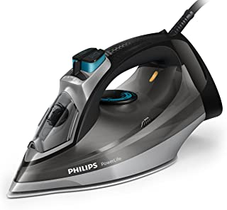 Philips PowerLife Steam Iron with SteamGlide Soleplate & 180g Steam Boost, 2400W, Grey/Black, GC2999/84