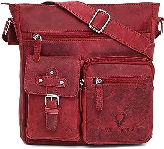 WILDHORN® Genuine Leather Ladies Sling Bag   Crossbody Bag   Hand Bag  Leather Shoulder Bag for Women with Adjustable Strap