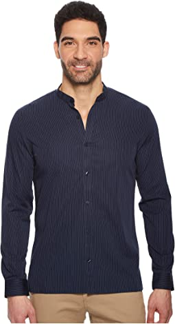 Calvin Klein Stripe Pieced Button Down Shirt